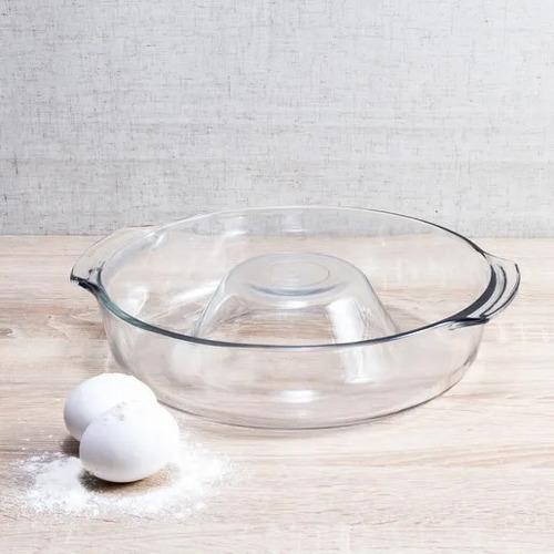 forma assadeira refratário bolo e pudim em vidro temperado