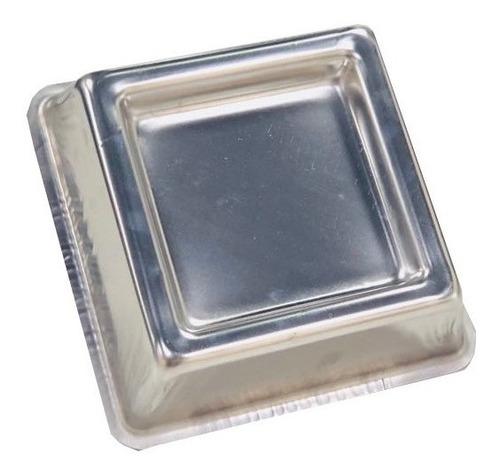 forma ballerine quadrada 25x8cm alumínio (fundo rebaixado)