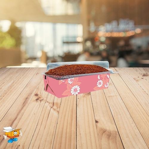 forma bolo 80 gramas forneável pequena c/ tampa - 100 unid