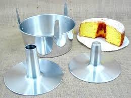 forma bolo chiffon em alumínio com contra cone - 3 peças