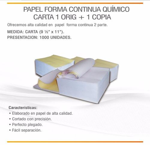 forma continua 9 1/2 x 11 - 2 partes para impresora fiscal