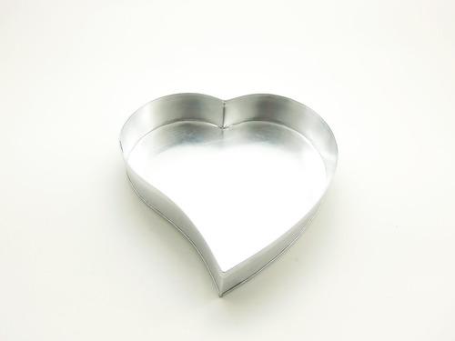 forma coração (alumínio) grande 33 x 33 x 6 altura