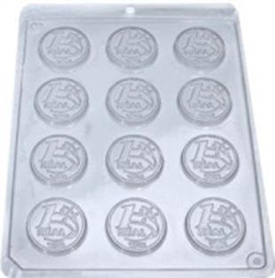 forma de acetato para chocolate e trufa - 20 formas