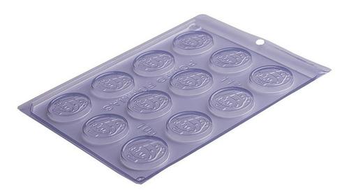 forma de acetato para chocolate moeda de 1 real - 40 formas