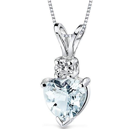 forma de corazón de oro blanco de 14 kilates 0,75 quilate...