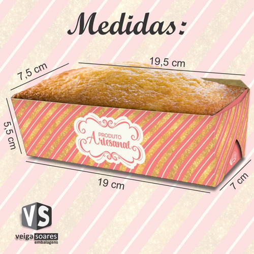 forma de papel para bolo forneável com tampa (50 unid.)