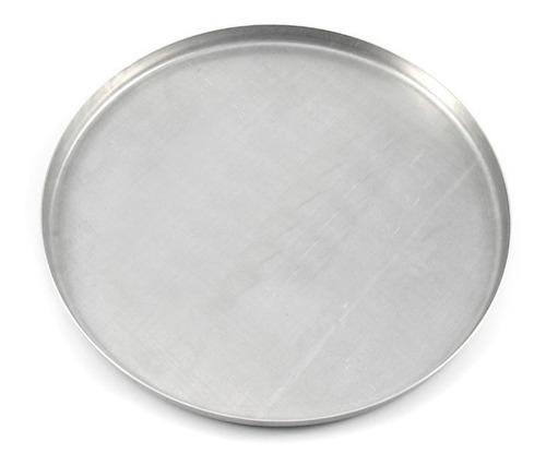 forma de pizza 35cm em alumínio - kit com 15 unidades