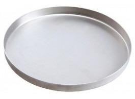 forma de pizza 45cm em alumínio - kit com 10 unidades