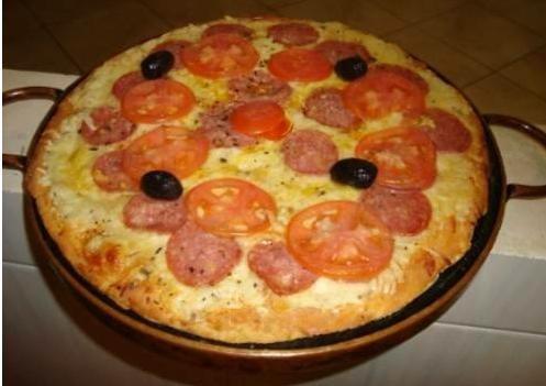 forma de pizza em pedra-sabão de 25 cm