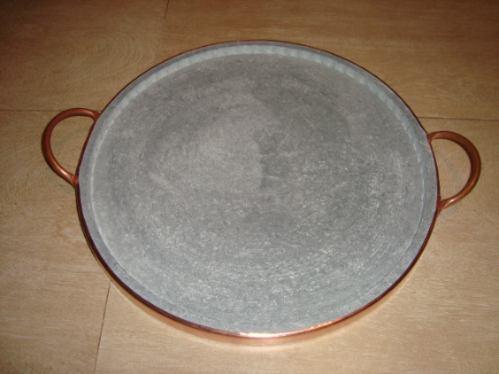 forma de pizza em pedra-sabão de 35 cm