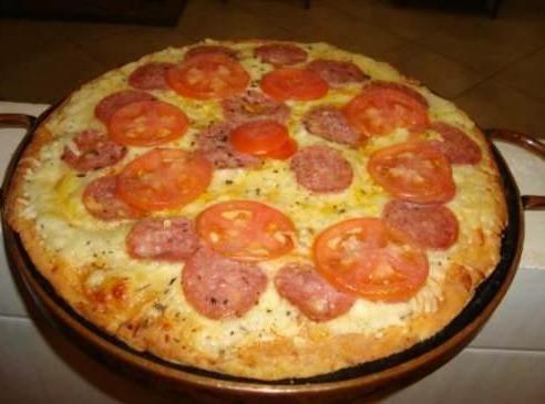 forma de pizza em pedra-sabão de 45 cm