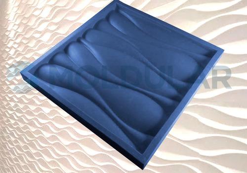 forma gesso 3d 100% silicone - ondas  29x29 cm