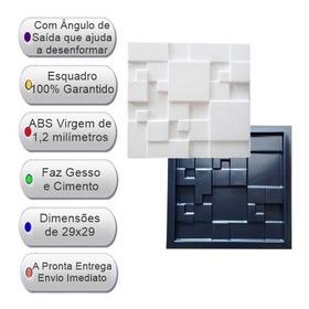 Forma Gesso 3d Ou Cimento Fdg42 Mosaico Liso 29x29 Abs 1,2mm