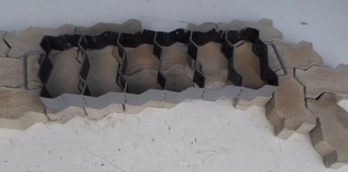 forma manual bloquetes,paver , 16 faces 6 peças jalossimaq