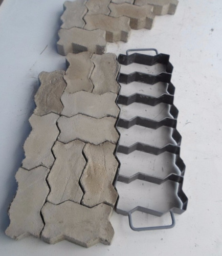 forma manual bloquetes,paver , 16 faces 6 peças por ciclo