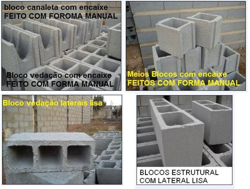 forma manual para blocos/ as formas mais rápida do mercado