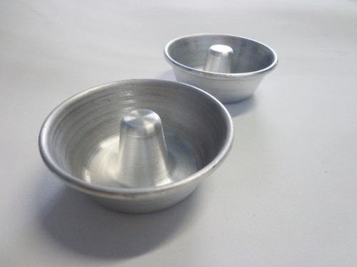 forma mini pudim e torta suissa nº 1 kit c/ 12pçs. aluminio