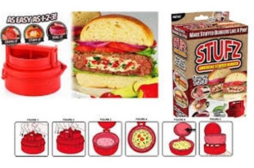 forma modelador fatiador e preparador de hamburguer recheado