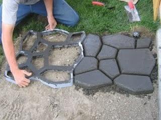 forma molde piso concreto jardim lajota aluminio 50x50x6