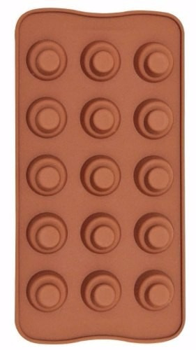 forma molde silicone para chocolate biscuit  modelo bombom