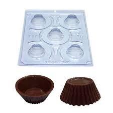 forma para chocolate silicone mini cupcake
