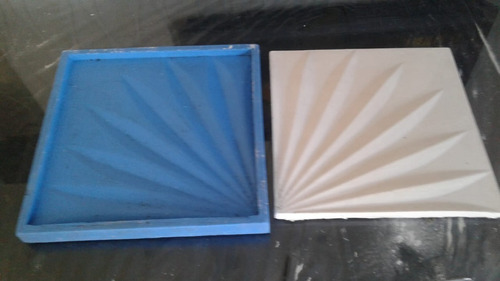 forma para gesso 3d / silicone - modelo sisal.