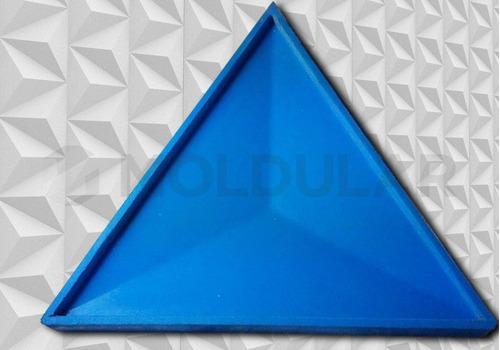 forma para gesso 3d / silicone. modelo triangular