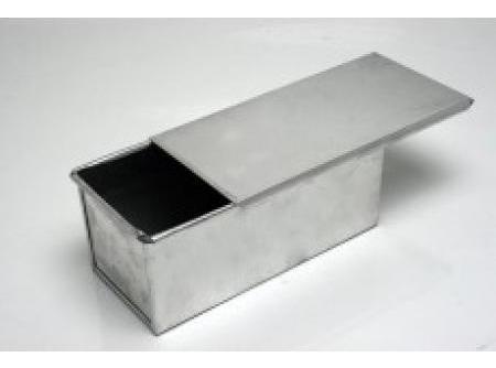 forma para pão de forma baby com tampa alumínio kit 4 unid.