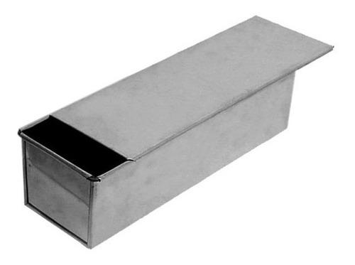 forma para pão de forma com tampa alumínio - kit 2 unidades