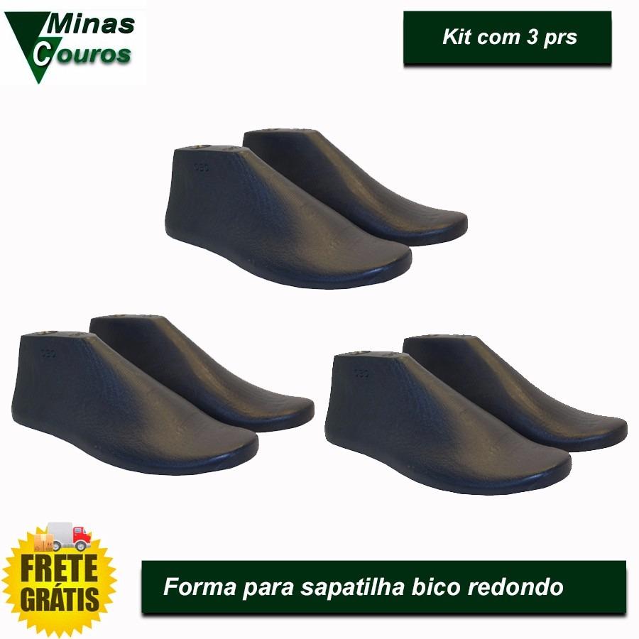 f54077595f forma para sapatilha bico redondo kit 3prs. Carregando zoom.