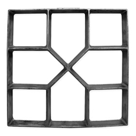 Forma Piso Calçada  40x40x4  C/ Manual Uso