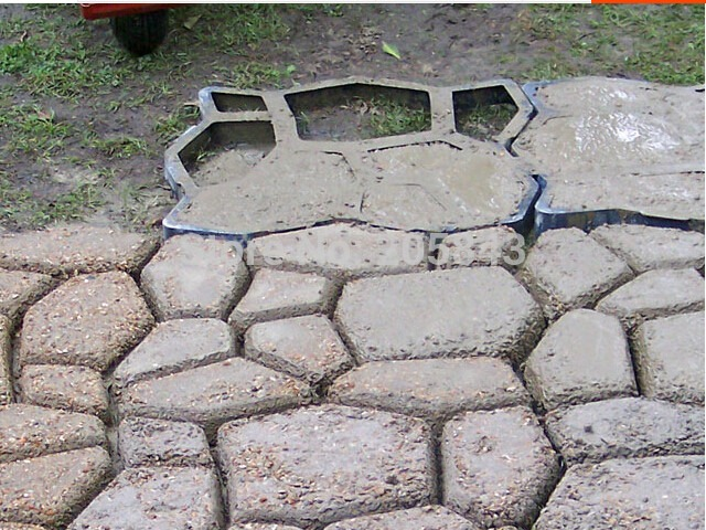 Forma piso cal ada uso concreto alum nio 50x50x4 c for Bloques de cemento para pisos de jardin