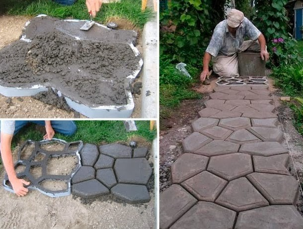 Forma piso de concreto jardim lajota paver aluminio for Piedras decorativas jardin baratas