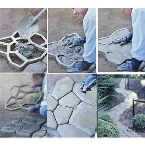 forma piso de concreto jardim lajota paver aluminio 50x50x6