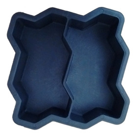 Forma Plástica Dupla Intertravada Para Bloquete De Cimento