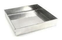 forma quadrada 15x10cm alta em alumínio p/ bolo manual