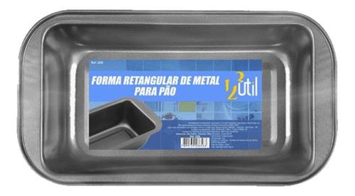 forma retangular de metal pequena p/ pão 25x13x6 cm 123útil