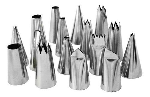 forma saia de boneca alumínio+ jogo de bicos com 22 pçs inox