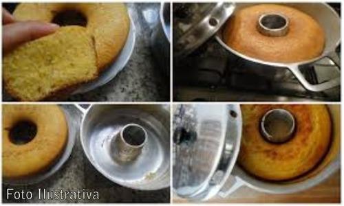 forma vovó bolo em alumínio fundido n° 26 + centralizador