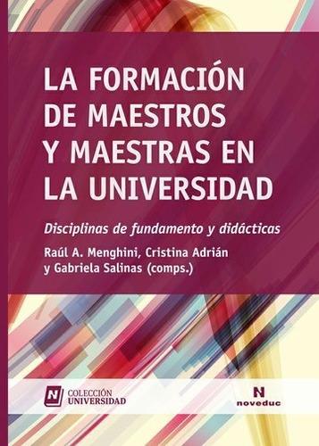 formación de maestros y maestras en la universidad (ne)