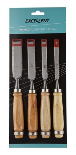 formao cabo madeira jogo com 4 peças ( 3/8 a 1 polegada)
