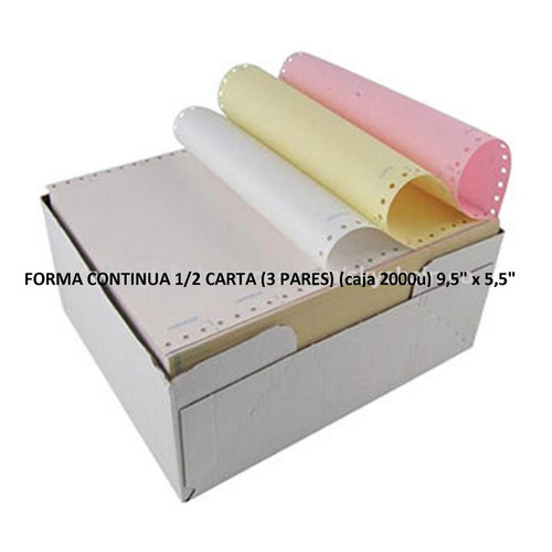 formas continuas media carta (caja 2000u) 9,5  x 5,5