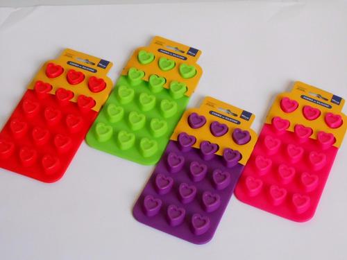 formas de silicone 15 corações p/chocolates e bombons  (fp)
