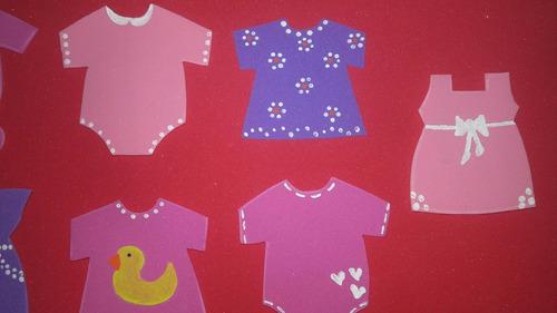 formas en goma eva baby shower bautismo 1er añito souvenirs