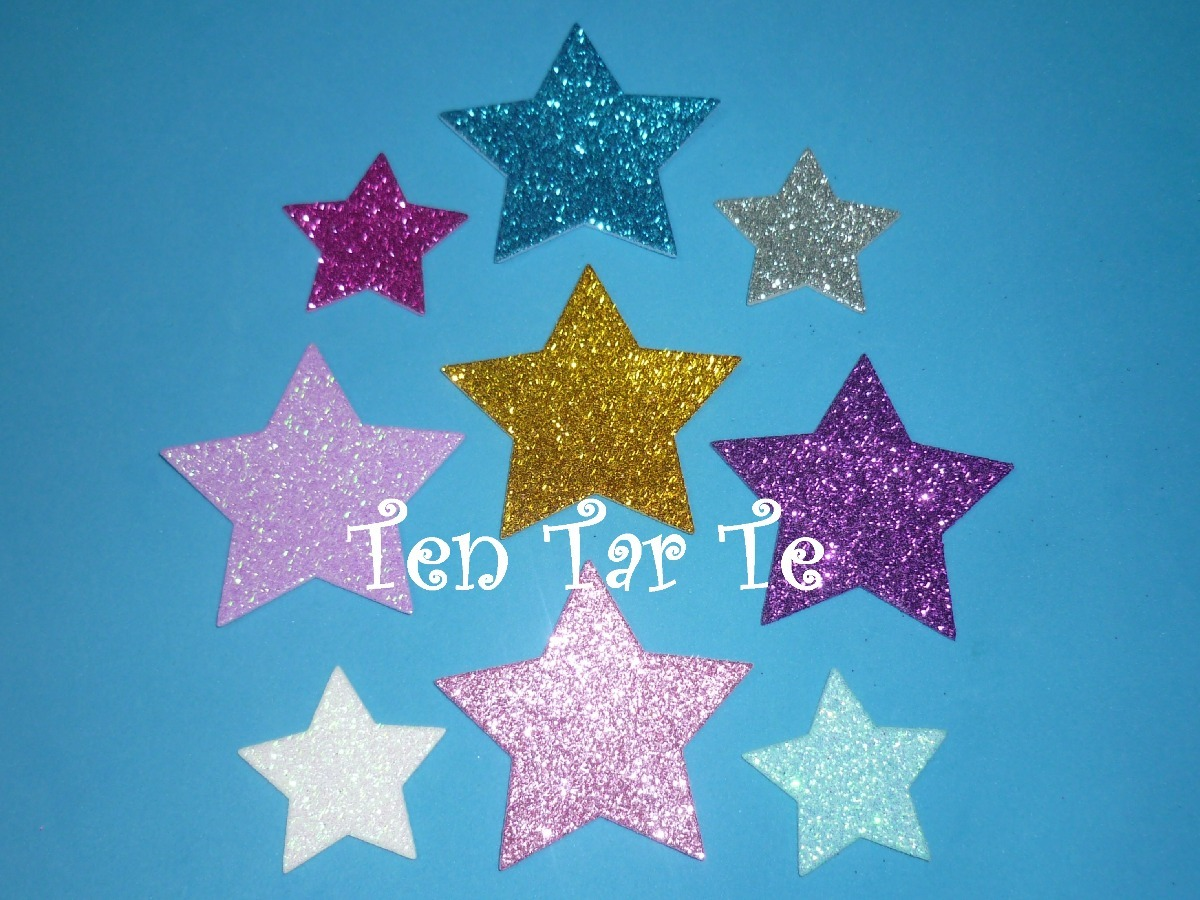 67db11c2403 formas figuras troqueladas goma eva con brillo estrellas. Cargando zoom.