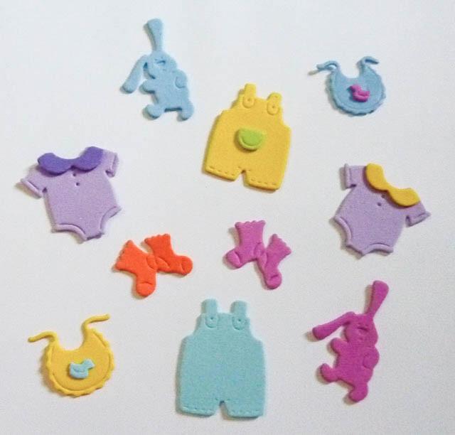 Formas goma eva baby shower bautismo decoraci n - Formas goma eva ...