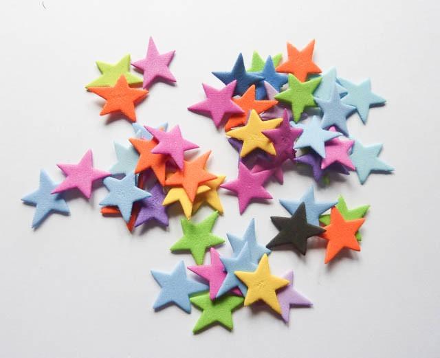 Formas goma eva corazones estrellas circulos 100 unidade - Formas goma eva ...