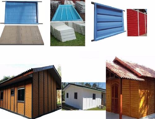 formas para pilar casa pre-fabricada e barracão pré moldado