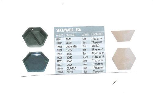 formas  para piso  sextavados lisa    fp 06 =   30x30x4,5cm