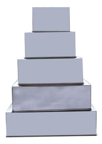 formas quadradas 5 pçs + bailarina + forma saia de boneca